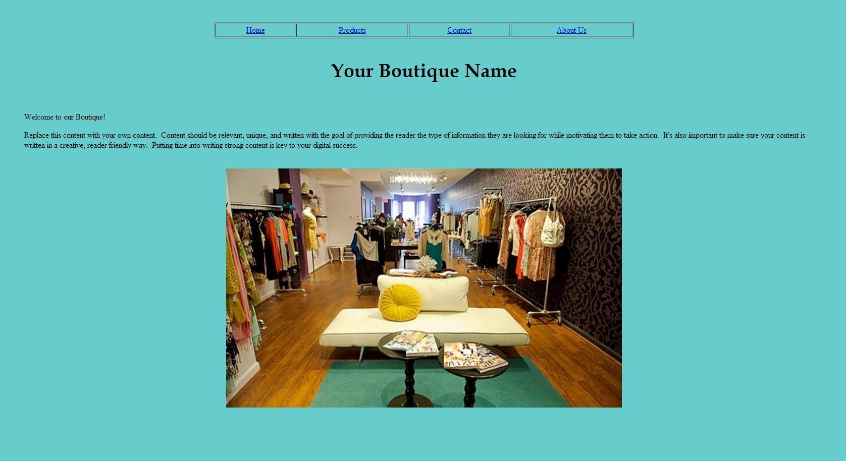 boutique template