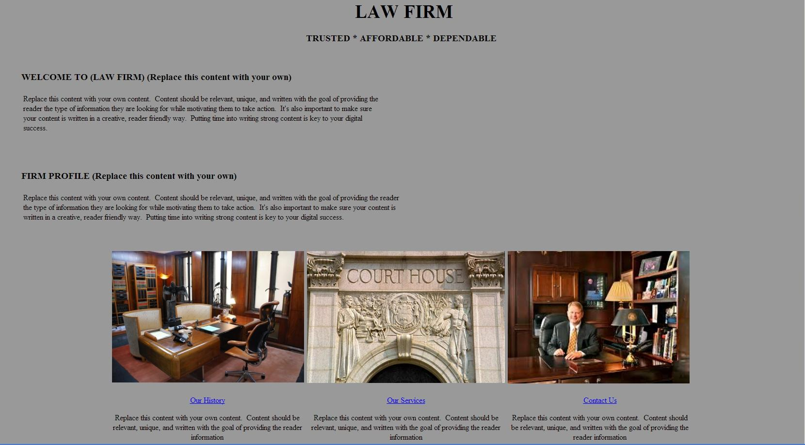 Law firm template